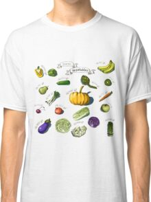 illustration of a set of hand-painted vegetables, fruits Classic T-Shirt