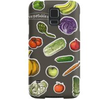 illustration of a set of hand-painted vegetables, fruits Samsung Galaxy Case/Skin