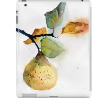 Watercolor illustration of pear iPad Case/Skin