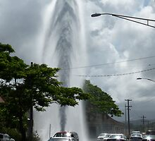 Exploding Fire Hydrant on Rice Street by Barbara Morrison