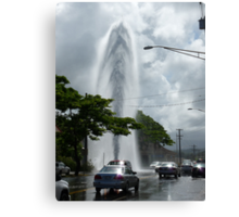 Exploding Fire Hydrant on Rice Street Canvas Print