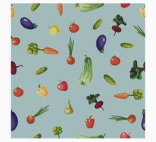 with growing vegetables - beetroot, potato, carrot, garlic and onion One Piece - Long Sleeve