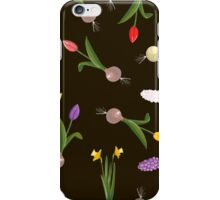 spring background sweet seamless flovers pattern iPhone Case/Skin