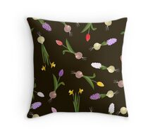 spring background sweet seamless flovers pattern Throw Pillow