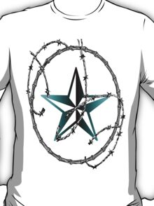 Barbed Wire Nautical Star T-Shirt