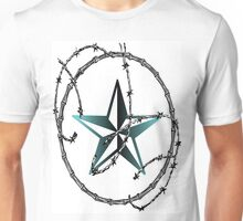 Barbed Wire Nautical Star Unisex T-Shirt