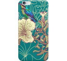 Seamless floral background with petunia iPhone Case/Skin