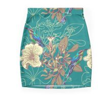 Seamless floral background with petunia Mini Skirt