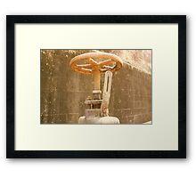 Tanks Arts Centre Series - Oil Wheel Framed Print