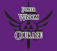 Zelda - Power, Wisdom and Courage by Dorchette