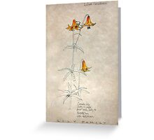 Canada Lily Bastille Day Greeting Card