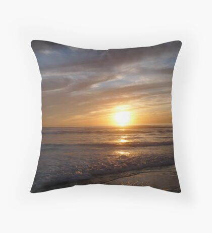 """Mocha Swirl Sunset"" Throw Pillow"
