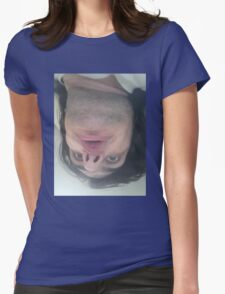 The ugliest shirt ever: staring at you Womens Fitted T-Shirt