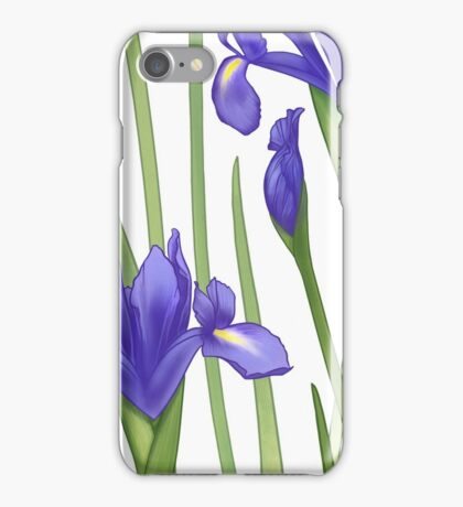 Blue Iris Blossoms iPhone Case/Skin