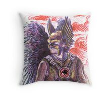 Hawk Man Throw Pillow