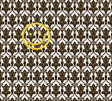 BBC Sherlock Holmes Damask Wallpaper Pattern by happycheek