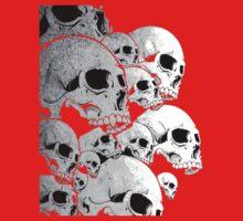 Skulls incoming - Left Kids Tee