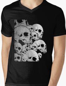 Skulls incoming - Left Mens V-Neck T-Shirt