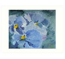 Pansy Show Off Art Print