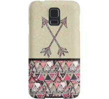 Retro Tribal Arrows Vintage Earth Aztec Pattern Samsung Galaxy Case/Skin