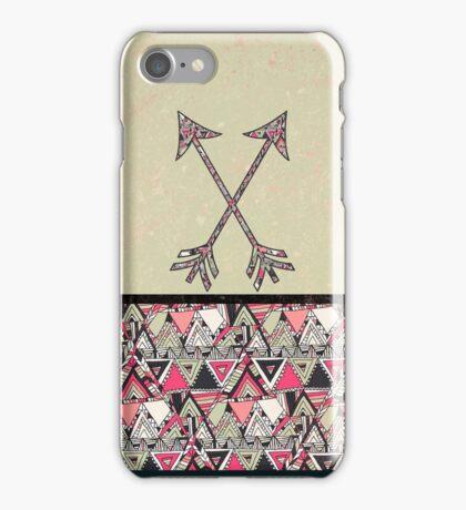 Retro Tribal Arrows Vintage Earth Aztec Pattern iPhone Case/Skin