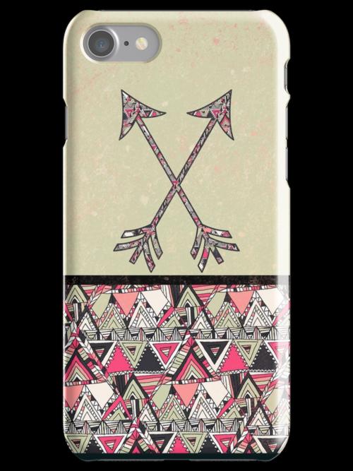Retro Tribal Arrows Vintage Earth Aztec Pattern by GirlyTrend