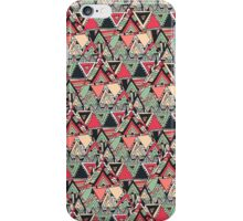 Retro Tribal Aztec Pattern Boho Orange Triangles iPhone Case/Skin