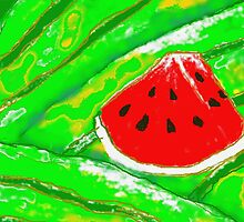 Watermelon slice by Angelo Aguinaldo