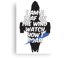 A Leaf on the Wind Canvas Print