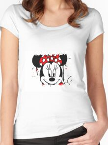 Minnie Mess - Head Women's Fitted Scoop T-Shirt