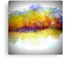 Simply Beautiful Golden Landscape Canvas Print
