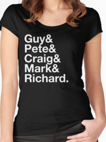 Guy&Pete&Craig&Mark&Richard. white text Women's Fitted Scoop T-Shirt