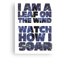 Leaf on the Wind v2.0 Canvas Print