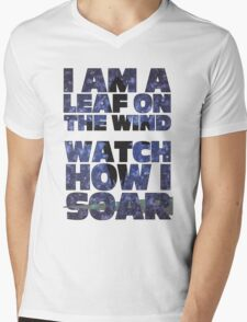 Leaf on the Wind v2.0 Mens V-Neck T-Shirt