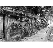 Bicycles in Goa Photographic Print