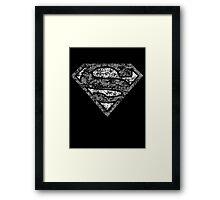 Superman Symbol Framed Print