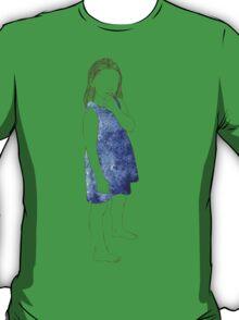 Little girl in a watercolor dress T-Shirt