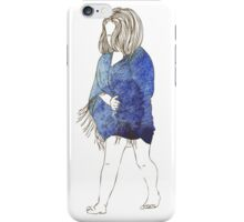 Little girl in a watercolor dress iPhone Case/Skin