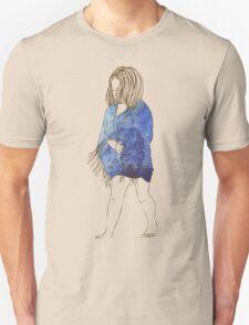 Little girl in a watercolor dress Unisex T-Shirt