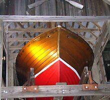 Boat In Loft by Wanda Raines