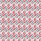 Retro Chain Pattern - Red by Jack Howse