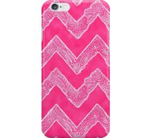 Trendy White Tribal Floral Paisley Chevron on Pink iPhone Case/Skin