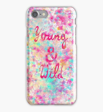 Girly neon Pink Teal Abstract Splatter Typography iPhone Case/Skin