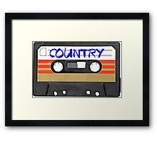 COUNTRY MUSIC Framed Print