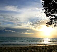 Mullet Bay Sunset by Kent Tisher