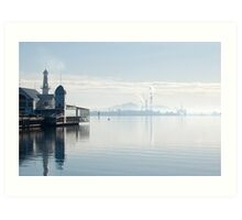 Corio Bay in the mist Art Print