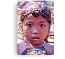 Lahu girl, northern Laos Canvas Print