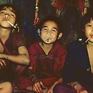 Karen boys smoking by John Spies