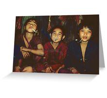 Karen boys smoking Greeting Card