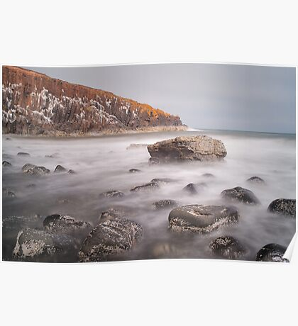 Cullernose Point Waves Poster